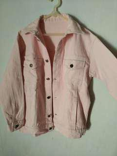 Jacket jeans baby pink