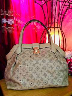 LV mahina leather bag replica