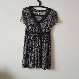 Cultivation Elle Leopard Print Dress