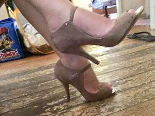 Aldo nude heels, used once.  For only 1,500!