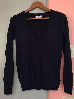 Forever 21 Deep V-neck Sweater