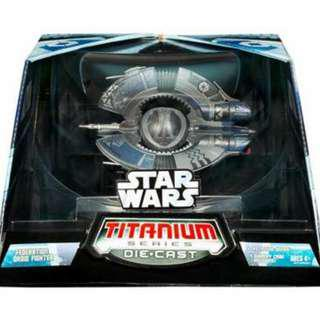 Star Wars Titanium Ultra Trade Federation Droid Fighter and Ultra Slave I