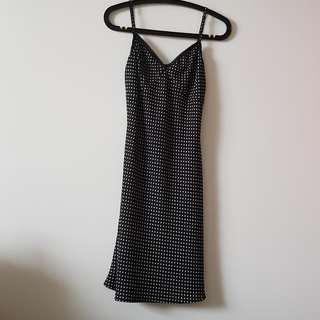 b Black-White Polka Dot Dress by Brit Shindia