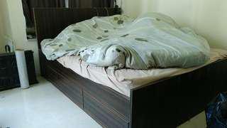 極新實木床 4呎半x6呎 solid wood bed