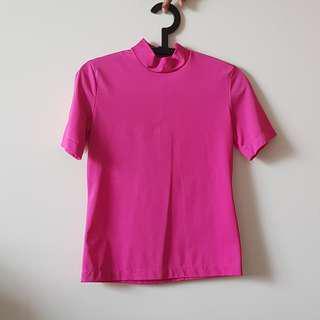 Pour Elle Pink Turtleneck