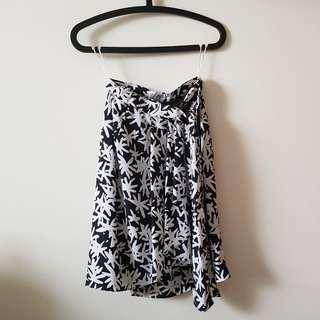 Profile Black/White Patterned Skirt
