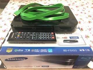 Samsung Blu-ray Player w/ remote+HDMI (BD-F5100)