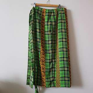 Direction Green Patterned Skirt