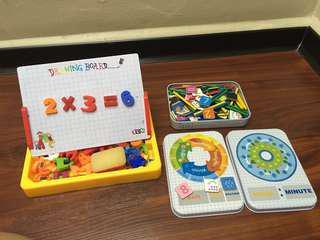 Bundle of Magnetic Math Clock Day Math Sticks Kid Toddler Toy