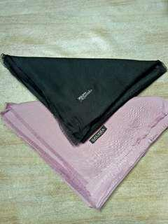 2 Pcs Bawal Saudia Black & Dusty Purple