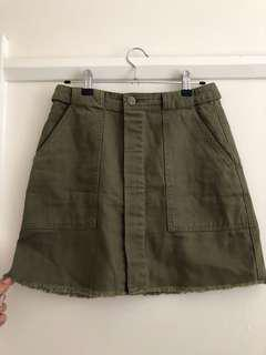Sportsgirl khaki denim skirt