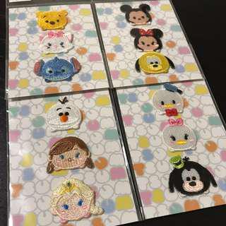 UNIQLO x Disney Tsum Tsum 燙章全套 米奇,米妮,維尼,Elsa
