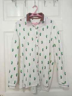 Cactus Long Sleeved Button Down 🌵