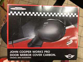 Mini Cooper JCW 原廠左右鏡碳纖殼
