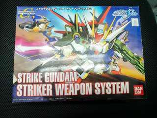 二手 中古 已砌 SD BB Strike Gundam Strike Weapon System 突擊高達  gundam seed