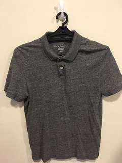 H&M 混色灰 短袖 Polo衫