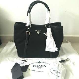 54faf0a37d938d ... tessuto nylon soft calf leather satchel prada satchel its greece brand  new prada bauletto aperto convertible bag bn1841 e054d dab44 ...