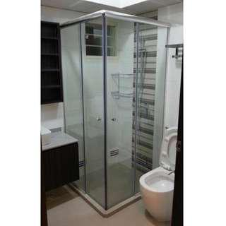 L Shape Sliding Shower Screen,call 88668884