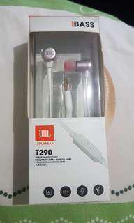 JBL T290 earphones