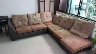 6 seater fabric sofa.