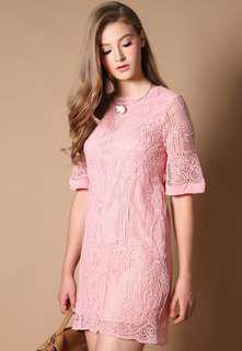 TSW The Stage Walk Joie Crochet Dress in Pink