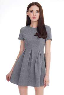 TCL The Closet Lover Rylee Skater Dress in Grey