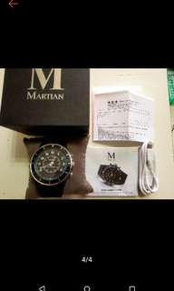 售 Martian 摩絢錶 Alpha艾爾法軍官系列 T10