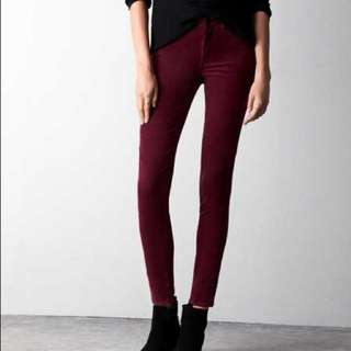 American Eagle Outfitters Jeggings in Burgundy