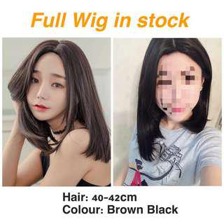 🚚 [IN STOCK] Central Parting Shoulder Length Synthetic Hair Wig with false scalp| natural Hair Wig hair loss hair fall hair shampoo hair accessories