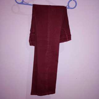 Celana bandidas warna merah