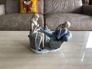 Porcelain office figurines