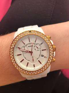 Diamond Fossil Watch
