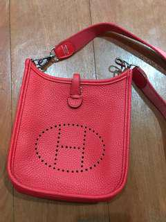 Hermes Evelyne tpm capucine clemence with dustbag