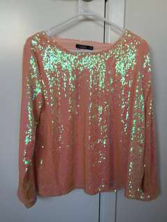 Sequin top, BOOHOO