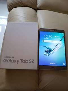 Samsung tab S2 , 8吋 Wifi, 已有玻璃貼、原裝套