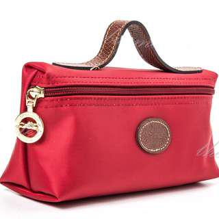 Authentic LONGCHAMP Le Pliage Small Cosmetic Pouch – Deep Red
