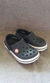 Auth Black Crocs Sz 8/9