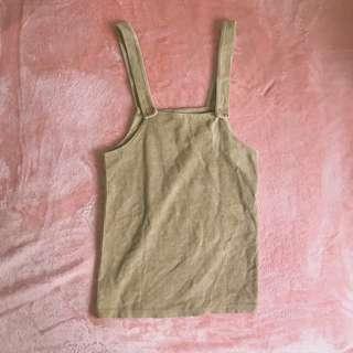 Brown Corduroy Pinafore Dress