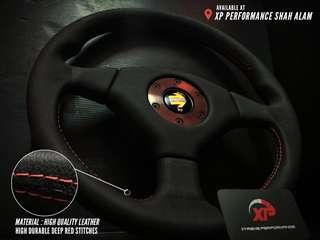Steering Sport Momo Leather Grip 3 Spoke 14 inch