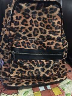 Authentic F21 leopard backpack Large
