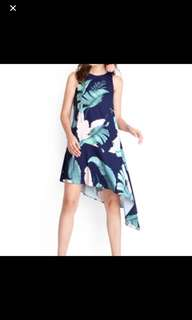 Lilypirates tropical paradise dress in blue pritns