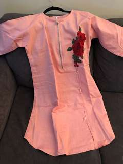 Pink Denim Medium Kurti (Pakistani Fashion)