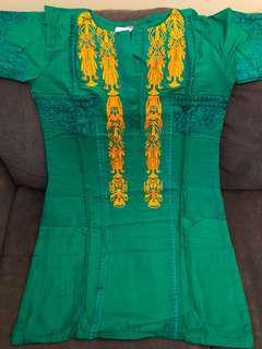 Green Pakistani-Style Kurti Size Medium