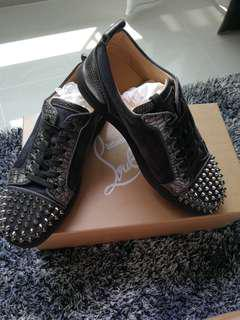 Authentic Christian Louboutin Men Junior Spikes Flat