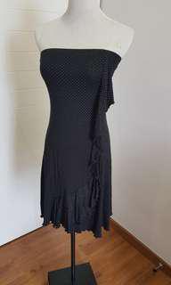 Black Polka Dots Tube Dress