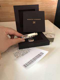 Monica vinader signature bangle and ring set