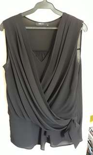 woman sleeveless top