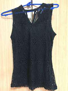 🚚 TEMT Black Sleeveless Lace Top