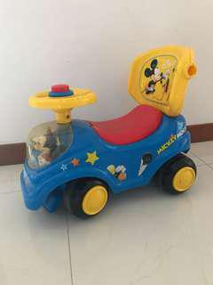 MICKEY MOUSE PUSH TOY CAR