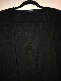 MISSGUIDED BLACK KNITTED CARDIGAN